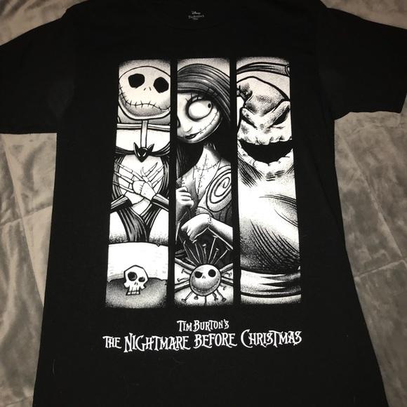 black nightmare before christmas t shirt